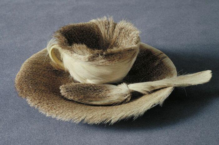 Меховая чашка. \ Фото: pinterest.com.