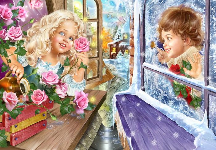 Иллюстрации, в которых царит невероятная атмосфера волшебства. Автор: Инна Кузубова.