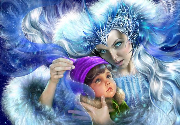 Кай и Снежная королева. Автор: Инна Кузубова.