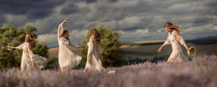 Женщина как буря. Спокойствие снаружи, а внутри она уже действует, танцует, радуется, живёт. Автор: Ирина Джуль.