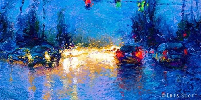 Дождливый день. Автор: Iris Scott.