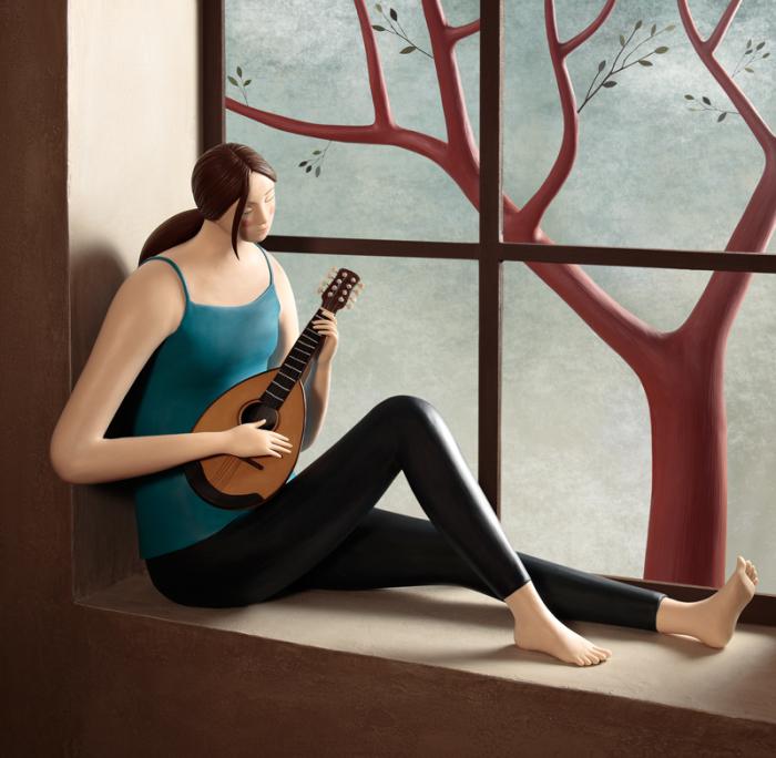 Музыкант. Пластилиновый мир Ирмы Грюнхольц (Irma Gruenholz).