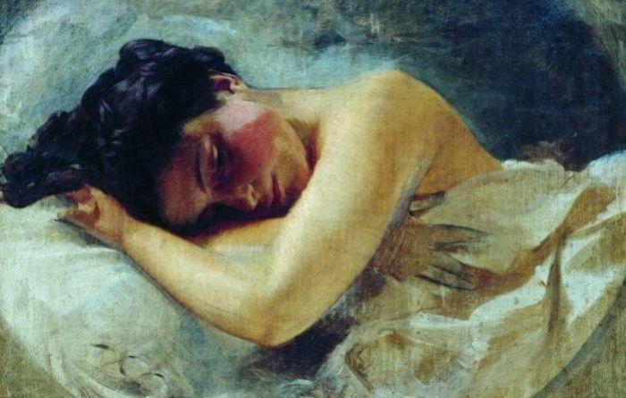 Девушка со склонённой головой. Автор: Иван Макаров.