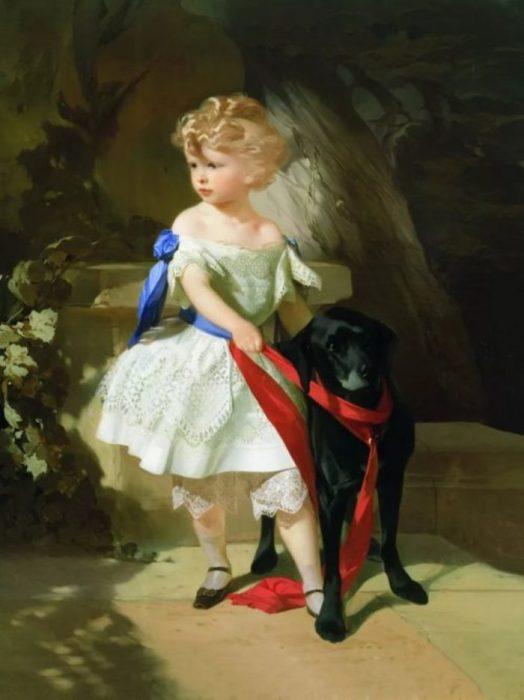 Девочка с собачкой. Автор: Иван Макаров.