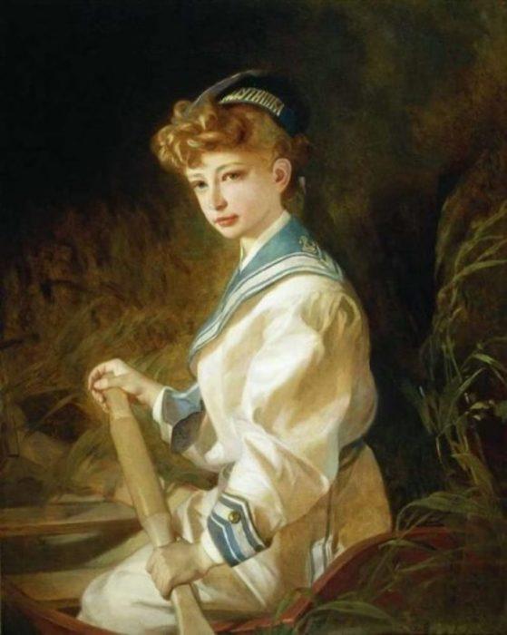 Портрет девочки в лодке. Автор: Иван Макаров.