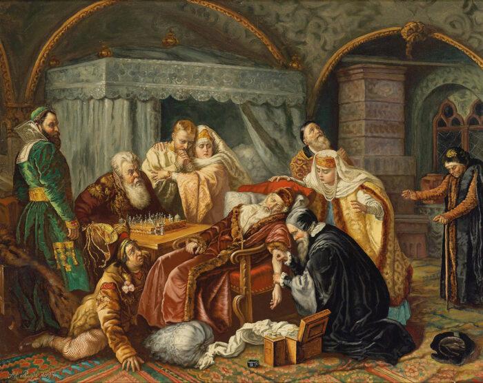 Смерть Ивана Грозного после игры в шахматы, 1844 год. \ Фото: mutualart.com.