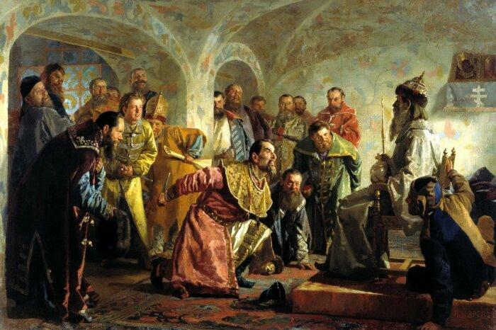 Опричники, работа Николая Неврева, около 1870-х годов. \ Фото: lrytas.lt.
