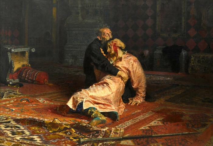 Иван Грозный и его сын Иван 16 ноября 1581 года, Илья Репин, 1885 год. \ Фото: twitter.com.