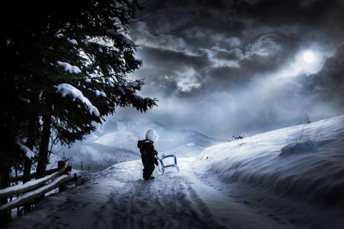 Зимняя сказка. Автор: Iwona Podlasinska.