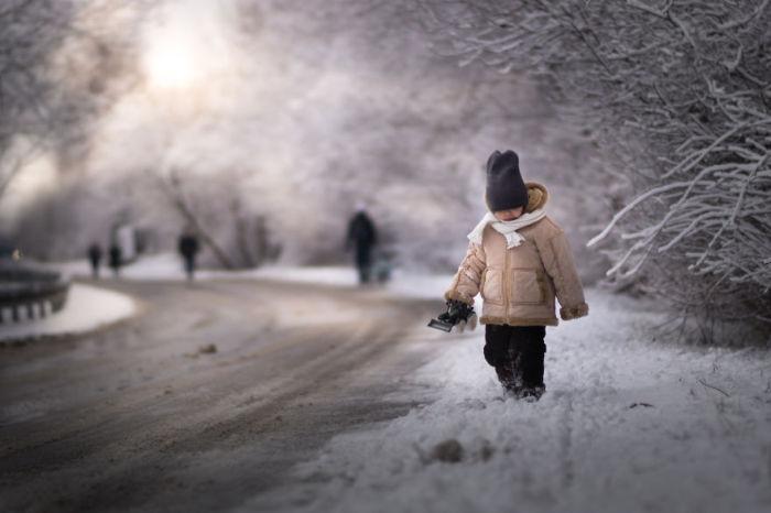 Снежный день. Автор: Iwona Podlasinska.