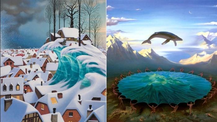 Мир иллюзий в сюрреалистических работах.
