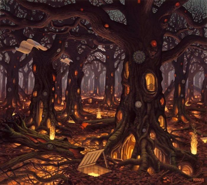 Сказки Долины Муми-троллей. Автор: Jacek Yerka.