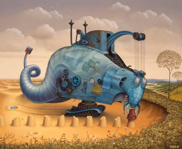 Песчаный валун. Автор: Jacek Yerka.