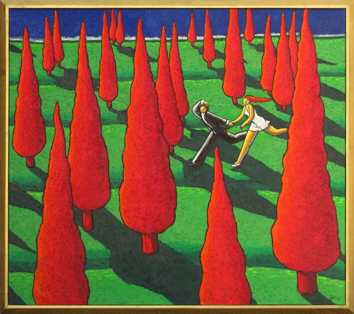 Любовный пейзаж. Автор: Jacques Tange.