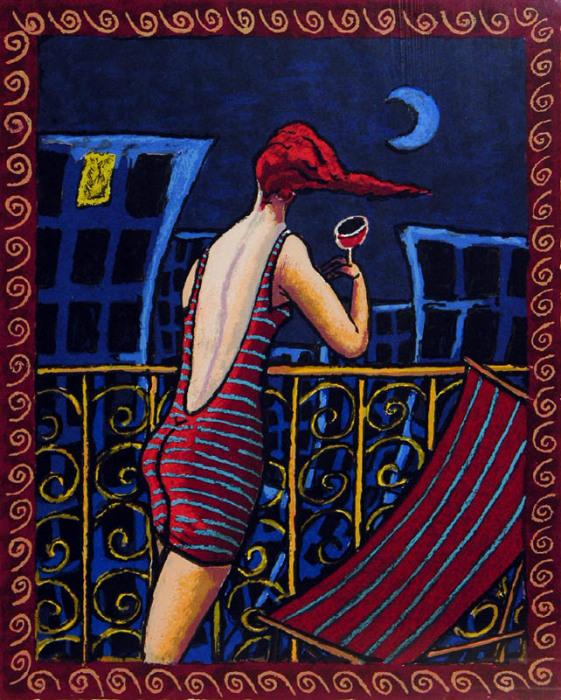 Голубая луна. Автор: Jacques Tange.