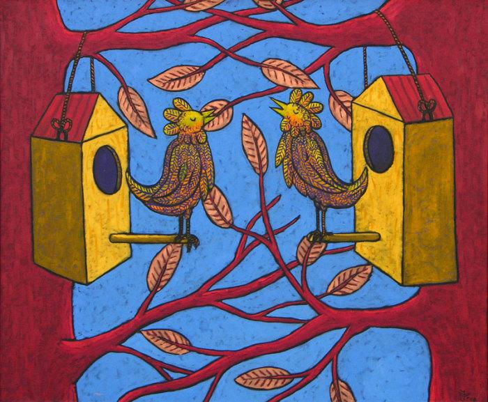 Русский лубок в голландском исполнении: Яркие образы на ностальгических картинах «художника года» Жака Танге
