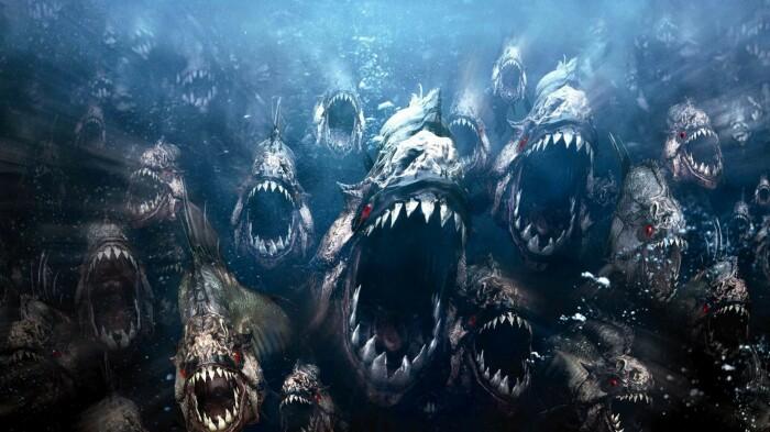 Кадр из фильма: Пираньи 2: Нерест. \ Фото: rodenivbg.com.