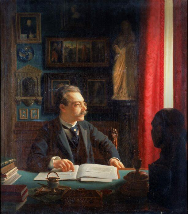 Джеймс Симон за письменным столом в своём кабинете, Вилли Дёринг, 1901 год. \ Фото: blog.smb.museum.