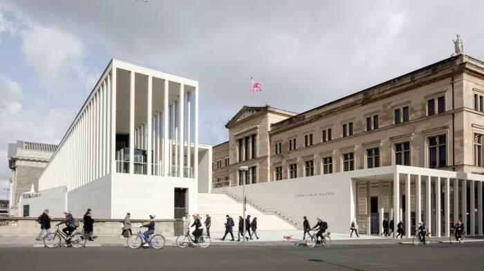 Главный вход в галерею Джеймса Симона. \ Фото: architecturaldigest.com.