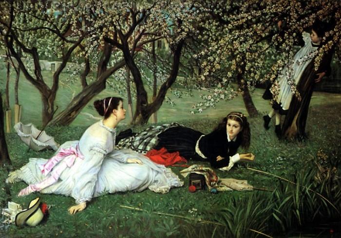 Весна. Автор: James Tissot.