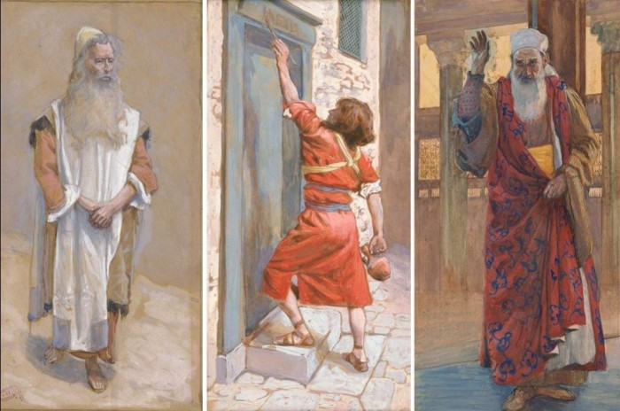 1. Аарон 2. Пасхальная дверь 3. Пророк Исаия. Автор: James Tissot.