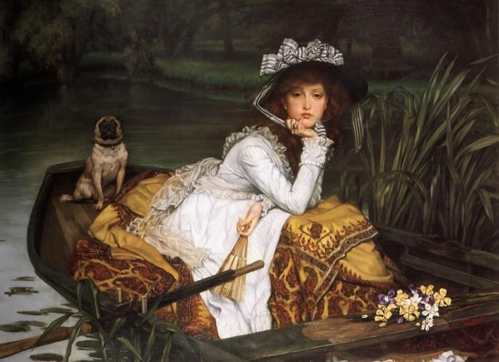 Юная леди в лодке. Автор: James Tissot.
