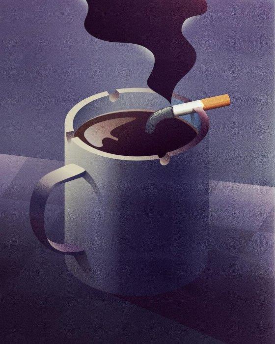 Кофе с сигаретой. Автор: Jan Siemen.