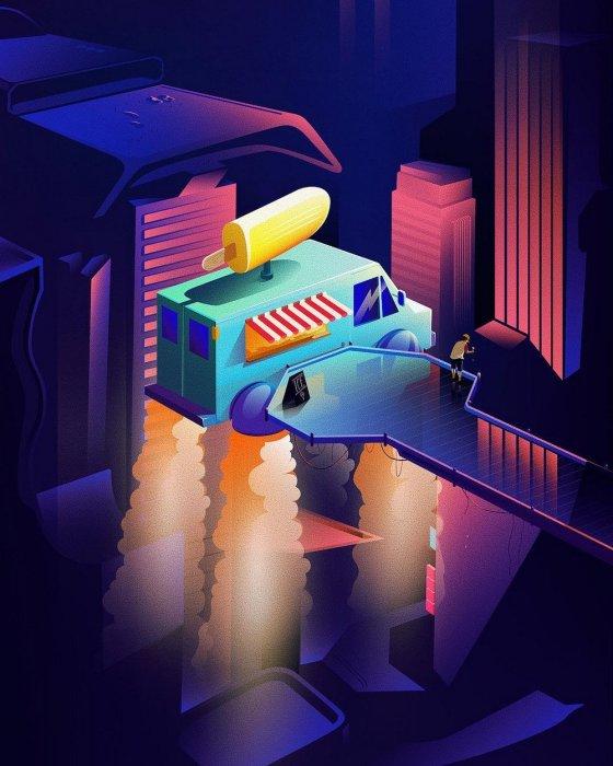Космический грузовик мороженого. Автор: Jan Siemen.