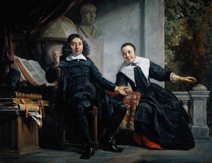 Портрет харлемского печатника Абрахама Кастелейна и его жены Маргариты ван Банкен. Автор: Jan de Bray.