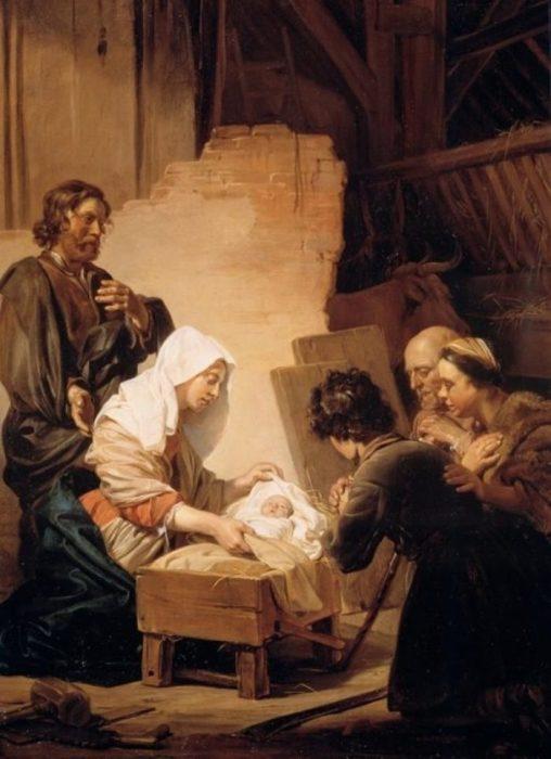 Ещё одна версия картины Поклонение Волхвов.  Автор: Jan de Bray.