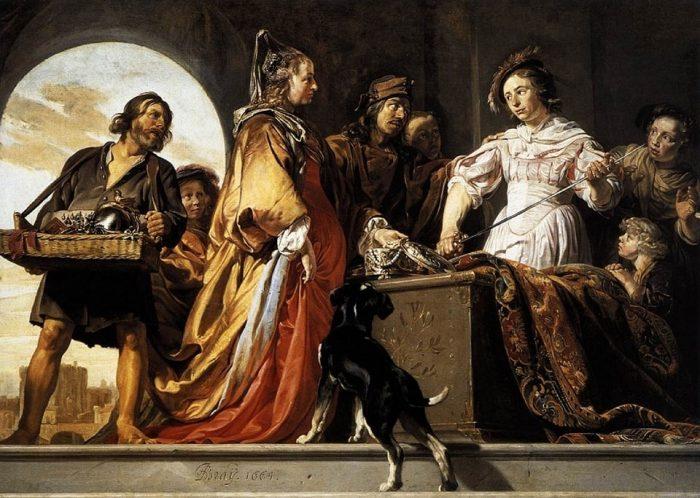 Одиссей обнаруживает Ахилла среди дочерей Ликомеда. Автор: Jan de Bray.