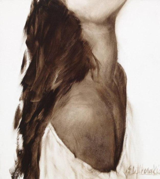 Образ из серии работ «Декольте». Автор: художница-самоучка Джанель Элефтекракис (Janel Eleftherakis).