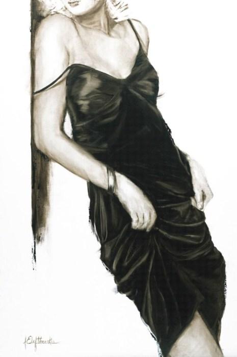 Серия работ «Маленькое чёрное платье». Автор: художница-самоучка Джанель Элефтекракис (Janel Eleftherakis).