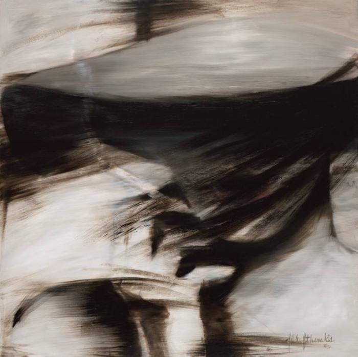 Размытые образы в серии работ «Сепия», которую Джанель посвятила своей бабушке Эвелин. Автор: художница-самоучка Джанель Элефтекракис (Janel Eleftherakis).