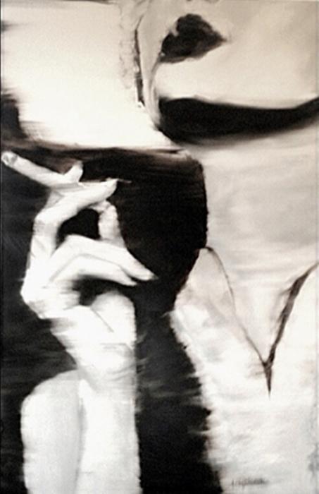 Сигаретный дым. Серия работ «Сепия». Автор художница-самоучка Джанель Элефтекракис (Janel Eleftherakis).