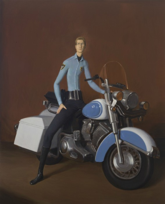 Полицейский на мотоцикле. Автор: Jansson Stegner.