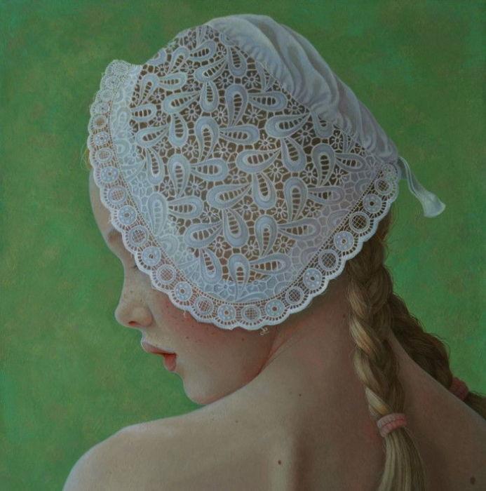 Шапочка в сеточку. Автор: Jantina Peperkamp.