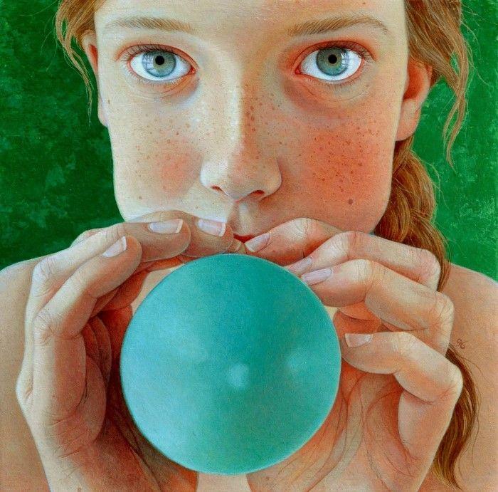 Зелёный шарик. Автор: Jantina Peperkamp.