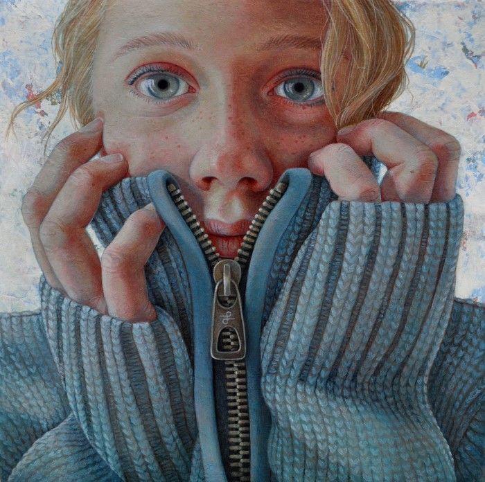 Тёплый свитер. Автор: Jantina Peperkamp.
