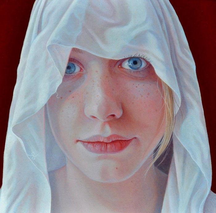 Белый платок. Автор: Jantina Peperkamp.