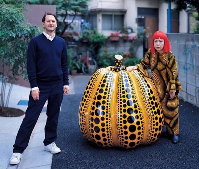 Марк Джейкобс и Кусама Яёи. \ Фото: twitter.com.