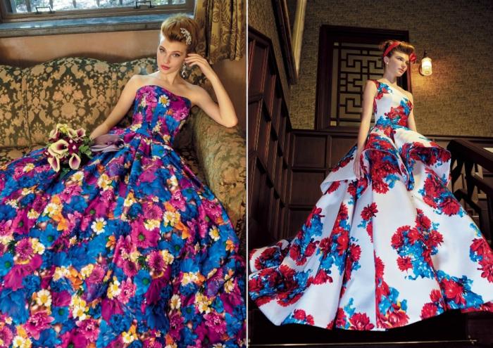 Цветы и мода. \ Фото: yesstyle.com.