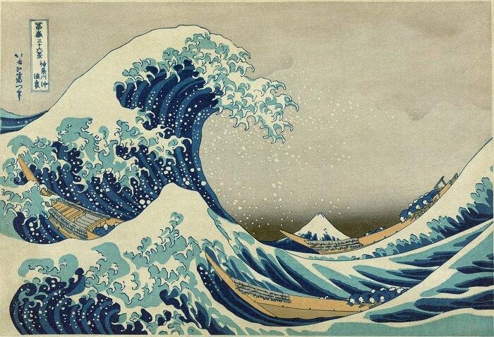 Большая волна в Канагаве — гравюра на дереве японского художника Кацусики Хокусая. \ Фото: reddit.com.