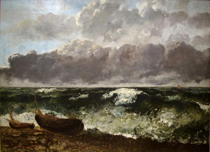 Гюстав Курбе: Шторм (Бурное море/Лодки). \ Фото: fr.wikipedia.org.