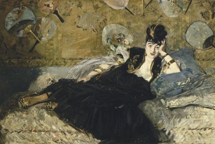 Эдуард Мане: Женщина с веерами (Нина Каллиас) 1873-1874 гг. \ Фото: google.com.