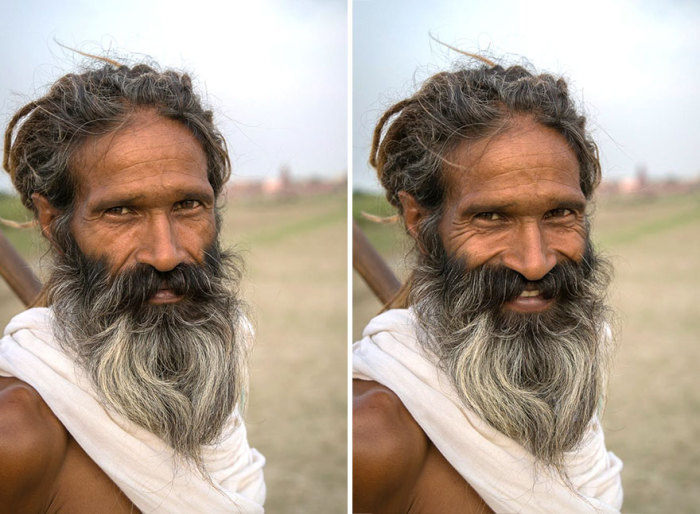 Портрет мужчины, Вриндаван, Уттар Прадеш, Индия. Автор: Jay Weinstein.