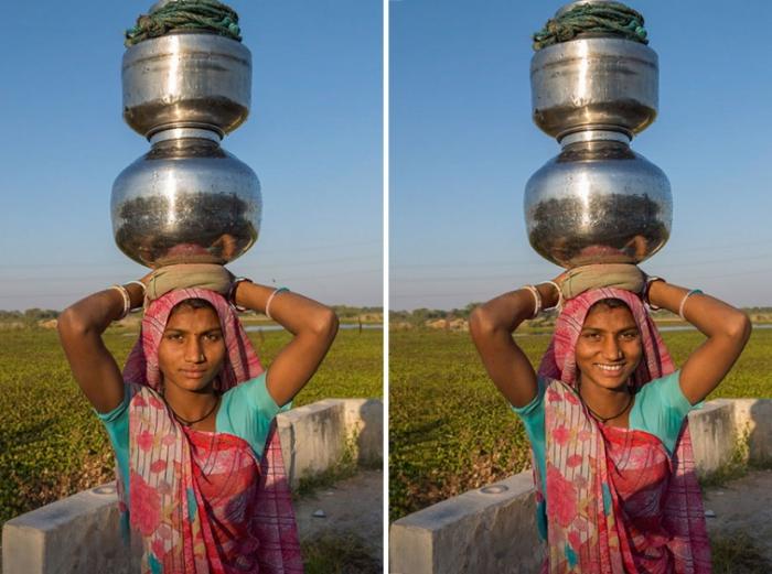 Женщина из деревни Кахсар, Гуджарат, Индия. Автор: Jay Weinstein.
