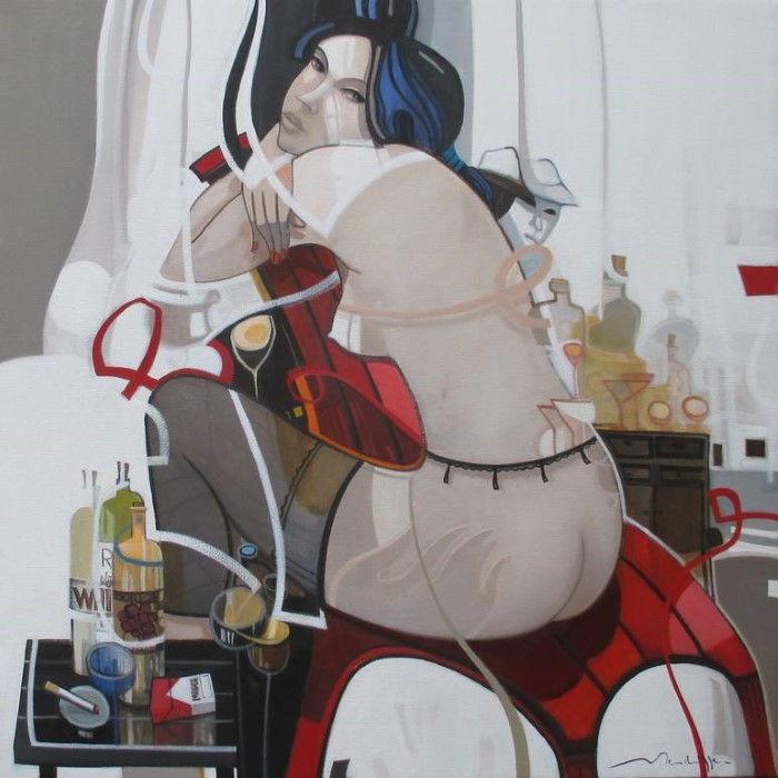 Сигареты и спиртное. Автор: Jean-Louis Mendrisse.