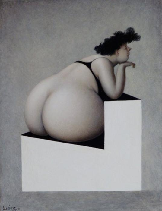 Приятная задумчивость. Художник Жанна Лорьоз (Jeanne Lorioz).