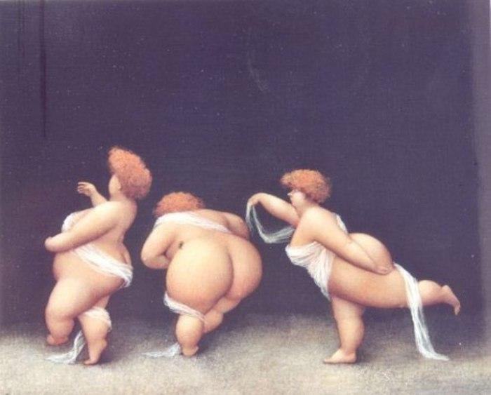 Три девицы... Художник Жанна Лорьоз (Jeanne Lorioz).